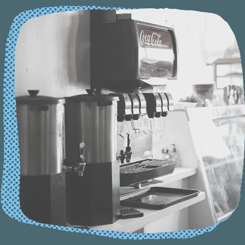 Restaurant Beverage Station with Rentable Ice Machine