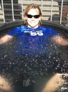 karyn marshall in an ice bath