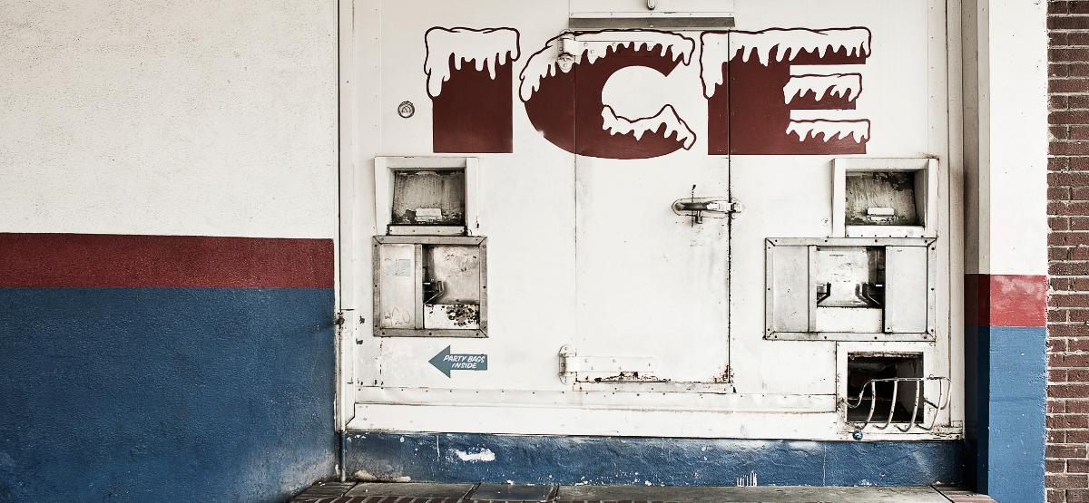 old ice machine