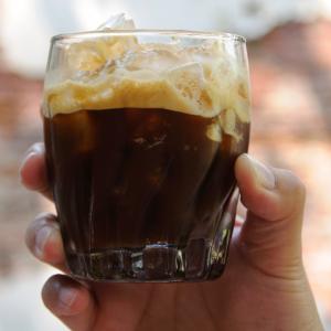 Shaken Espresso in glass