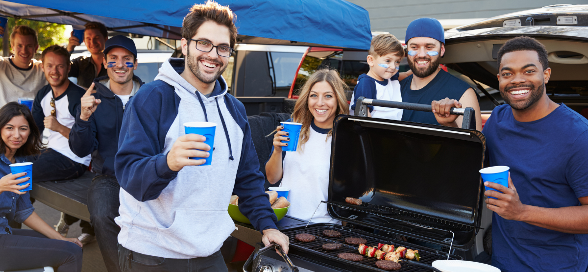 Group of people tailgating