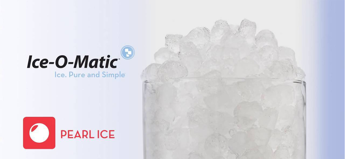 Ice-O-Matic's Pearl Ice in a tall cup